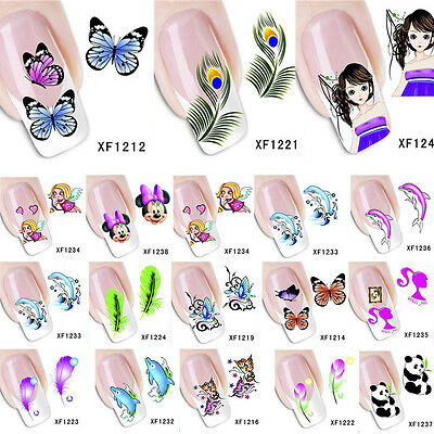 Water Transfer Decal Stickers Nail Art Manicure Tips 3d Flower