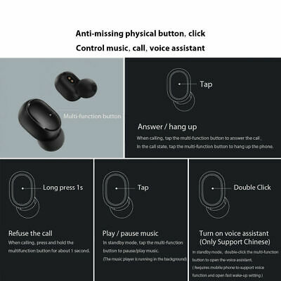 For Xiaomi Redmi TWS Airdots Headset Bluetooth Earphone Headphone Stereo Earbuds 7
