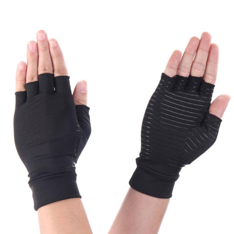 Copper Anti Arthritis Gloves Compression Hand Stiffness Carpal Tunnel Pain Brace 9