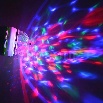 E27 B22 E14 RGB Crystal Ball Auto Rotating LED Stage Light Bulb Disco Party Lamp 7