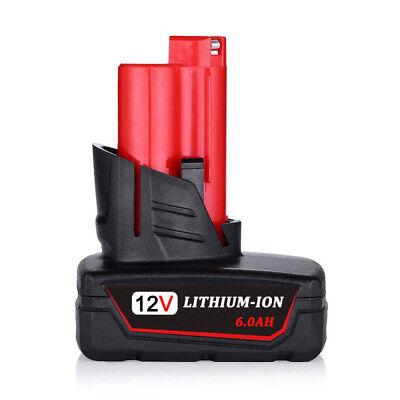 12V For Milwaukee 48-11-2460 M12 LITHIUM XC 6.0 Extended Capacity Battery 12Volt