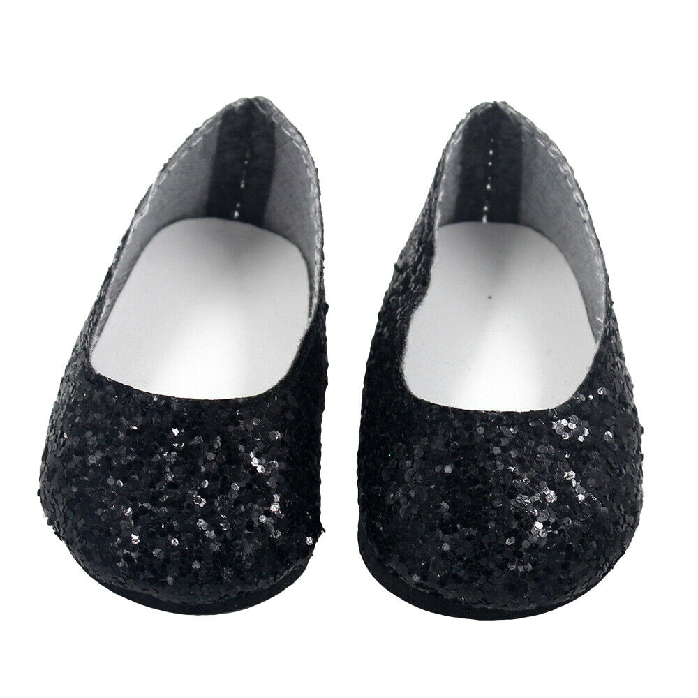 6Pairs Modern Doll Shoes Sparkle Sequined Shoe For 18 inch American Girl Doll 6
