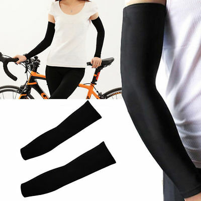 2Pairs UV Sun Protection Compression Cooling Sports Arm Sleeves Warmer Covers 4