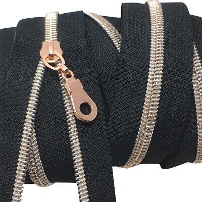 High Quality Nylon Spiral Coil Zip No 5 Continuous Zipper Tape ✄ Hazy Beige Z307