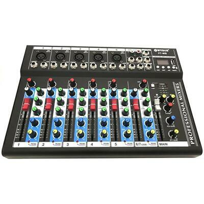 PDR*MIXER AUDIO PROFESSIONALE 7 CANALI USB CON ECHO-DELAY dj karaoke pianobar 2
