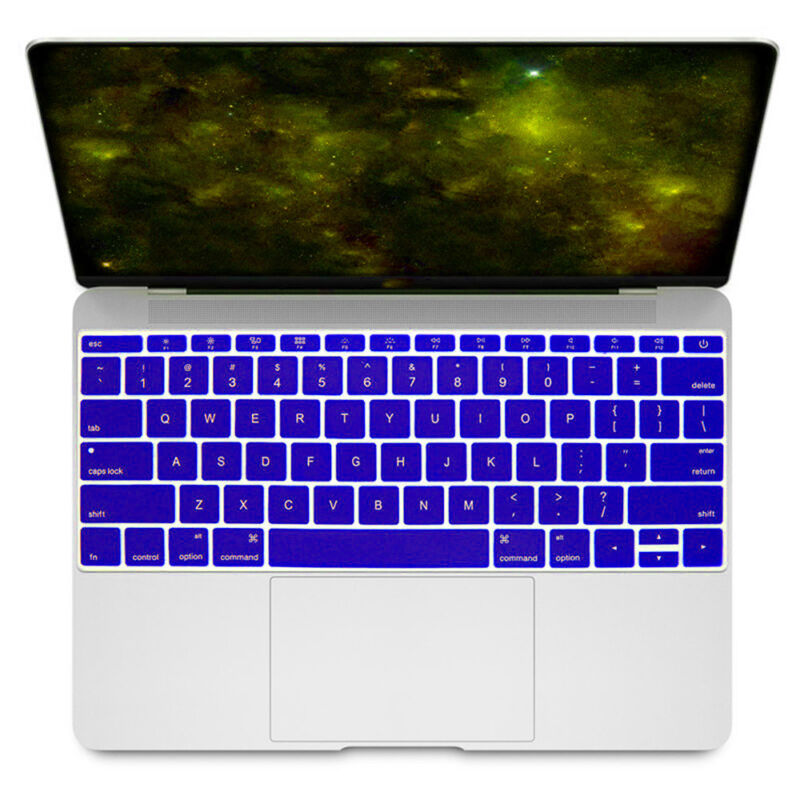 EU//UK//US Silicon Keyboard Cover Transparent Clear Protector Multi Language for MacBook Air Pro Retina 13 15 17inch-Russian US Vision