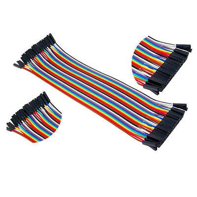 40pc 10-30cm Dupont Jumper Wire Ribbon GPIO Cable Arduino Breadboard F-F/M-M/F-M 8