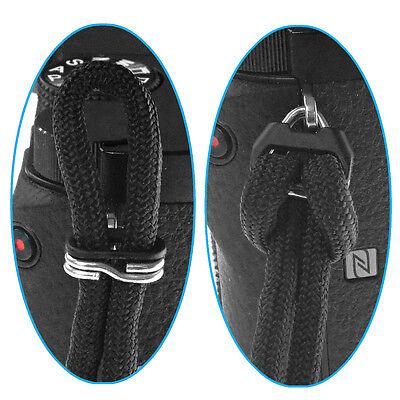 Dark Navy Blue Braided 550 Paracord Adjustable Camera Wrist Strap Bracelet 4