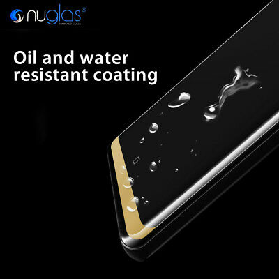 Samsung Galaxy S9 S8 Note 9 8 NUGLAS Full Cover Tempered Glass Screen Protector 5