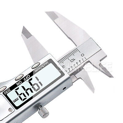 150/200/300mm Electronic Digital Vernier Caliper Stainless LCD Gauge with Case 10