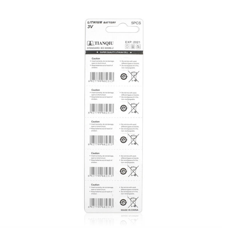 Consumer Electronics CR1632 3 Volt Coin Cell Battery (5 Batteries) 5