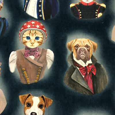 The Pooch & Tabby 100% French Cotton Fabric | Watercolour | Curtain Upholstery 2