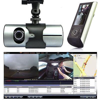 Dual Lens GPS Camera HD Car DVR Dash Cam Video Recorder G-Sensor w/ Night Vision 3