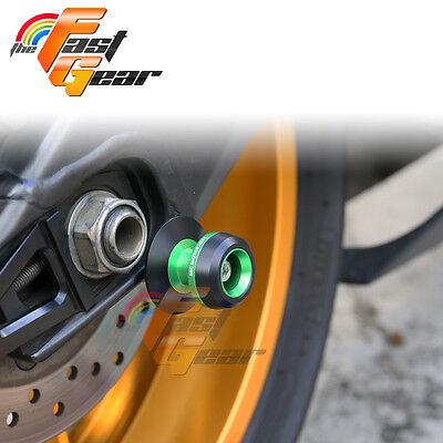 Twall Protector Green  Swingarm Spools SlidersFit Kawasaki Ninja 1000 2014-2015