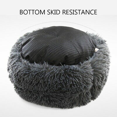 Large Pet Bed Luxury Shag Warm Fluffy Dog Bed Nest Cat Mattress Fur Donut Pad UK 6