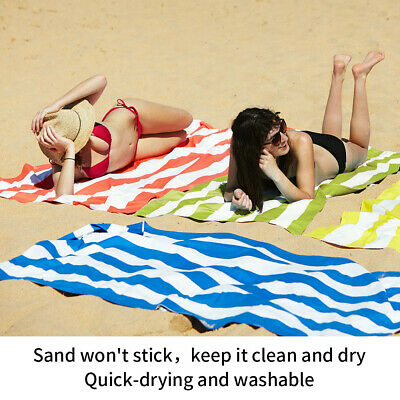 Striped Extra Large Microfibre Lightweight Beach Towel - Speed Dry- Travel Towel 8