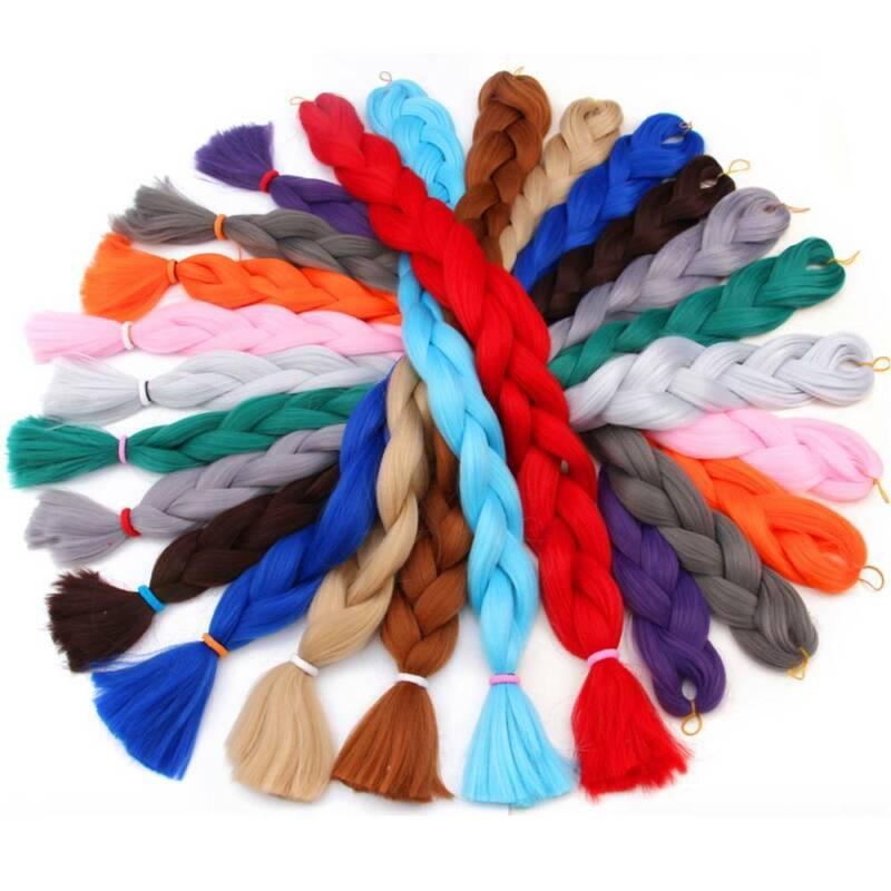 Colored 82'' Synthetic Kanekalon Jumbo Braiding Hair Extension Afro Twist Braids 8