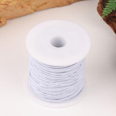 100M Rond Cordon Élastique Bande Couture Blanc pour Coudre Artisanat DIY 11