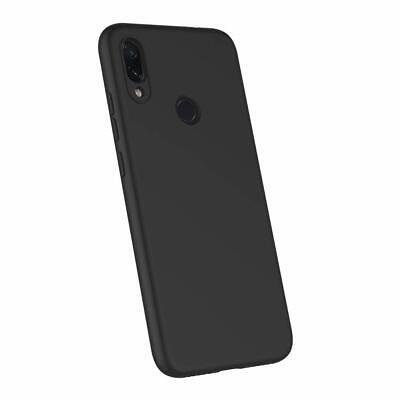 Cover Custodia + Pellicola Vetro Temperato Per Xiaomi Redmi Note 7 Nero Opaco 8
