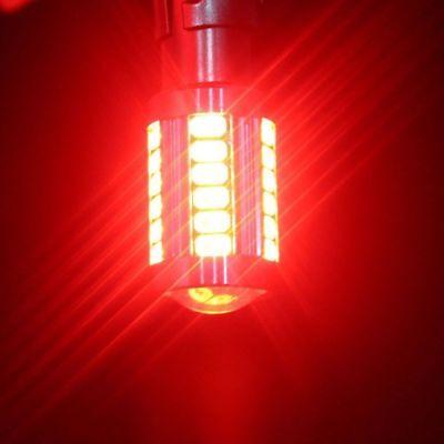 2x 1156 BA15S P21W Red LED 33SMD 5630 Car Turn Signal Blinker Lights DRL 3