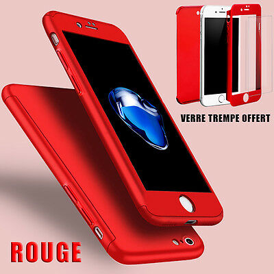 Housse Etui Coque 360 Protection Iphone 6/Plus/7/8/X/5S/Se + Vitre Verre Trempe 5