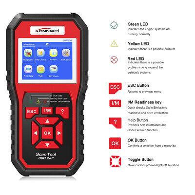 KW850 OBD2 EOBD Escáner De Código De Avería Lector coch 2