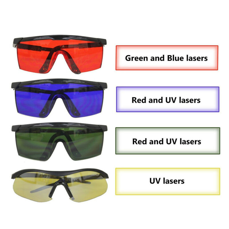 Multicolor Laser Eye Glasses Protection Safety Goggles Large Polycarbonate Lens 7