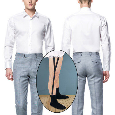 1 Pair Y Style Shirt Stays Mens Garters Suspenders Military Uniform Holder Sock 2