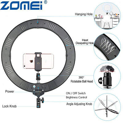 """18"""" LED SMD Ring Light Kit with Stand Dimmable 5500K for Makeup Phone Camera 3"""