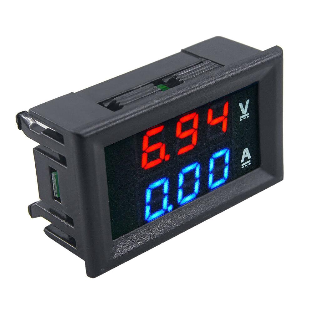 Voltmetro voltometro amperometro digitale da pannello 100V 10A modulare modulo 2