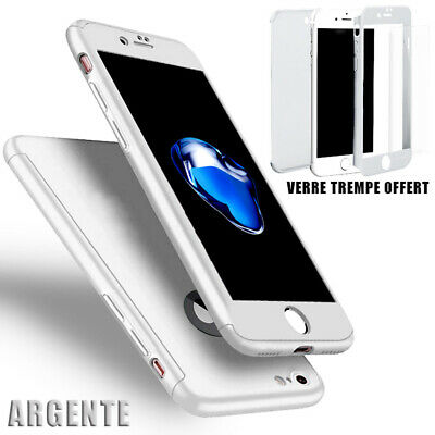 Coque Housse Total 360 Iphone 6 6S 7 8 5 Xr Xs Max Protection Vitre Verre Trempe 5