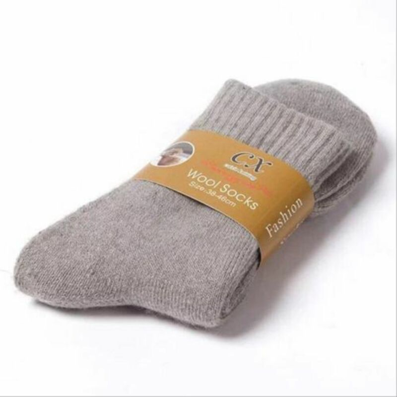 Warm Thick Wool Cashmere Comfortable Thick Socks Men Winter Outdoor Sport Socks 5