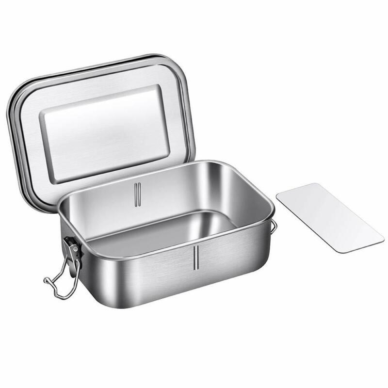 GA Edelstahl Lunchbox Brotdose für Kinder und Erwachsene Bento-Box mit Trennwand 7