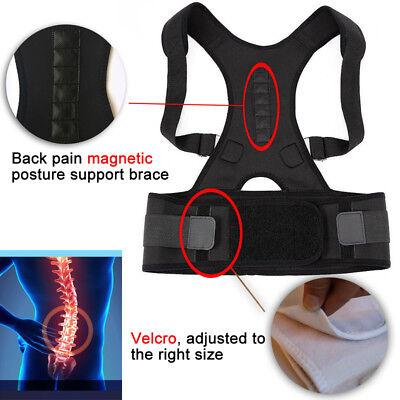 US Posture Corrector Support Magnetic Back Shoulder Brace Belt For Men Women SFC