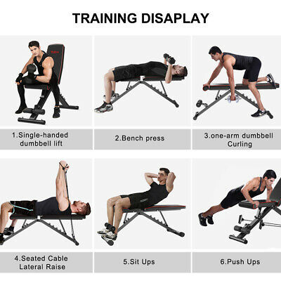 EasyBuild Adjustable Folding Olympic Weight Bench - Upright to Decline Black 8