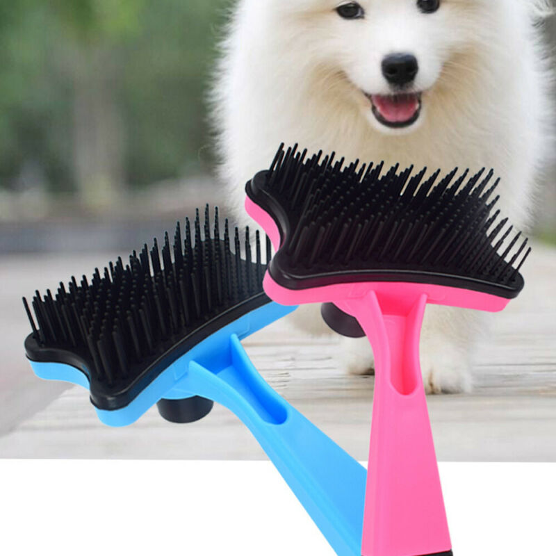 Pet Brush Dog Cat Puppy Hair Grooming Shedding Tool Comb Trimmer Bath Massage 3