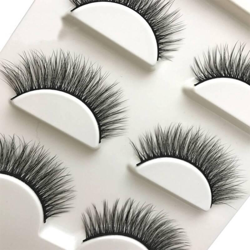 3 Pairs Natural False Eyelashes Fake Lashes Makeup 3D Faux Mink Extension 2