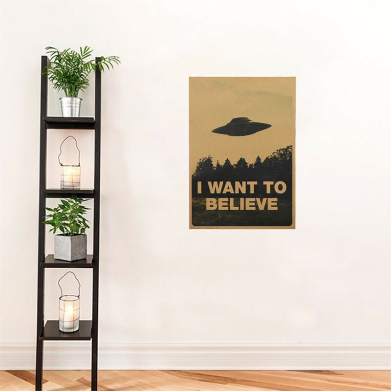 "HOT Vintage Classic X FILES ""I Want To Believe"" Poster Home Decor Wall Stickers 10"