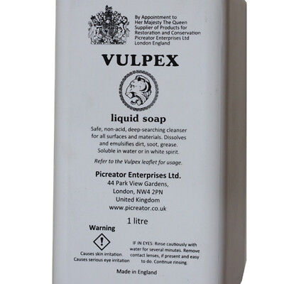 1L Cleanser Vulpex Liquid Soap For Cleaning Your Antiques , Read Descriptions 2