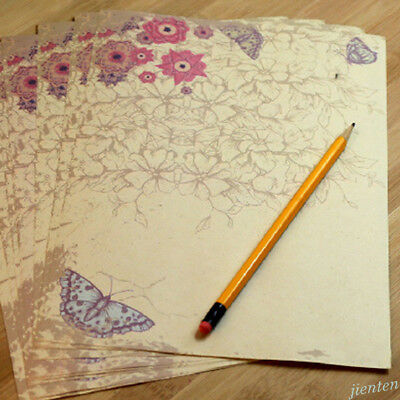 Rose Flower Writing Letter Paper Stationary Vintage Student Classic Stationery 10