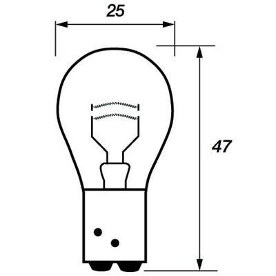 10 x Ring 566 P21//4W Brake Stop /& Tail Light Bulb 12v 21//4w BAZ15D Offset Pin