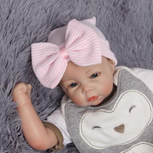 Bonnet souple rayé coloré pour bébé fille avec bonnet nouveau-né