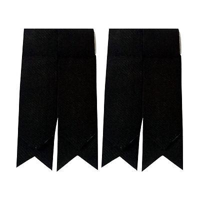 New Mens Kilt Flashes Plain Black Tartan/Scottish Kilt Hose Scock Flashes Tartan 2