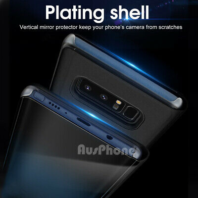 Mirror Shockproof Flip Case Cover  For Samsung Galaxy S10 Note 10 9 S9 S8 Plus 5