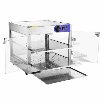 Commercial Food Warmer Display Showcase Cabinet Pizza Soup Case Stainless Steel 3
