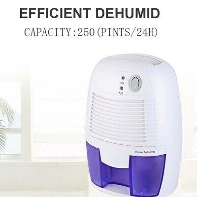 Portable 500ML Dehumidifier for Bathrooms Basement Moisture Air Dry Water Tank 5