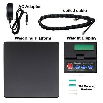 DIGITAL SHIPPING SCALE POSTAL PARCEL SCALE 110 LBS CAPACITY w/ AC ADAPTER 2