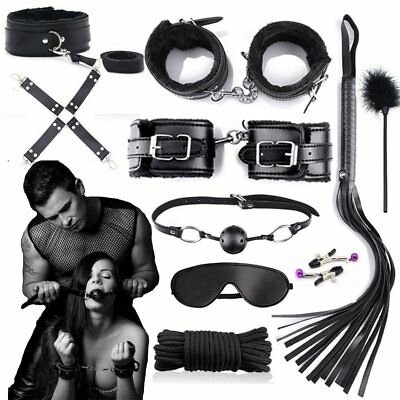 KIT 11PZ polsini slave paddle sculacciatore gag ball collare CORDA SHOP SEX toy