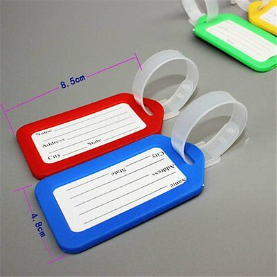 10 Travel Luggage Bag Tag Plastic Suitcase Baggage Office Name Address ID Label 3