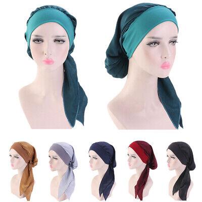 Women Cancer Hat Chemo Pirate Cap Muslim Hair Loss Head Scarf Turban Head Wrap 2
